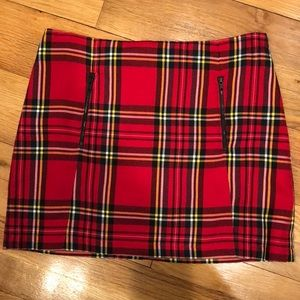 TOPSHOP plaid mini skirt!!